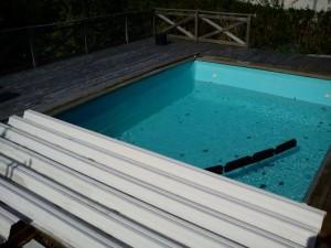 vårstart av pool